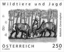 Austria 2017 - Rothirsch black proof mnh