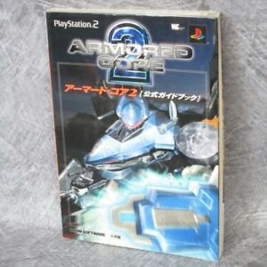 ARMORED CORE 2 Official Guide w/Poster Japan Book PS2 SG51*