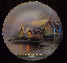 Thomas Kinkade Lochaven Cottage Romantic Hideaways Plate Coa and Box