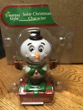 Solar Powered Dancing Toy New - CHRISTMAS Snowman With Presents