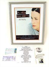 Alanis Morissette Original Concert Poster,Backstage Passes,Tickets&Set List Rare