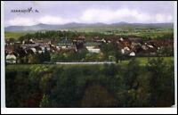 Herrnhut Sachsen Postkarte 1928 gelaufen Gesamtansicht mit Bergpanorama