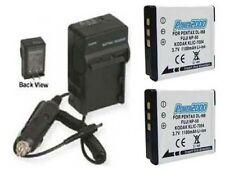 2 Batteries + Charger for Fuji FujiFilm XP110 XP150 XP160 XP170 Real 3D, Real W3