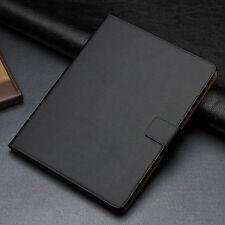 For Apple iPad 2 3 4 Black Luxury Genuine Leather Smart Flip Wallet Case Cover