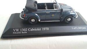 Minichamps 430 055090 VW1302 Cabriolet 1970 Polizei Berlin
