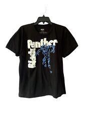 Marvel Comics The Black Panther Superhero Movie Black Logo T-Shirt Size Medium