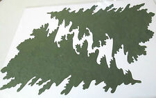4 x Large Die-Cut Christmas Tree Card Toppers - Green Mulberry Paper