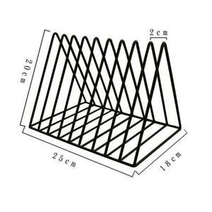 Triangle Bookshelf Metal LP Record Holder Magazine Rack Tidy Files Storage P0U4