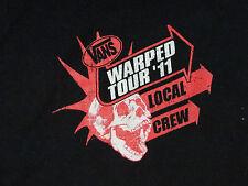 VANS WARPED TOUR 2011 Concert T-Shirt Limited Edition Local Crew  Size 2XL Rare