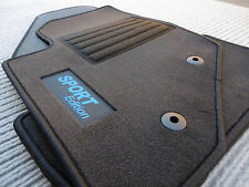 $$$ Lengenfelder Fußmatten für Volvo V70 II + SPORT Edition LOGO blau + NEU $$$