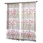 Floral Tulle Voile Door Window Curtain Drape Panel Sheer Scarf Valances Decor