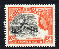 British Guiana 24 Cent c1954-63 Lightly Mounted Mint Stamp (2597)