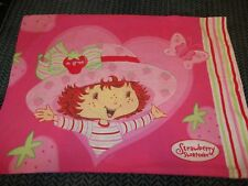 Vintage Strawberry Shortcake Cartoon Character Reversible Pillow Case {Fabric}