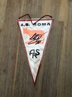 Francesco Totti Autogramm + AS Roma Wimpel + signiert Unterschrift Trikot