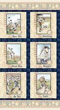 Who's On First Collection Baseball Players Panel Benartex Fabric