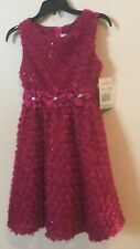 GIRLS Holiday Dress by Bonnie Jean Rare Editions. FUCHSIA (Hot Pink), SIZE 8 NWT