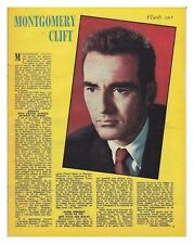 1962 DOCUMENT (ref Nil 373 ) CINEMA : MONTGOMERY CLIFT  1page