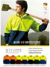 HI VIS High-Vis Half Zip 1/2 Zip Safety Fleece Jumper with Side Zipped Pockets