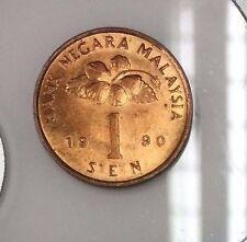 1990  2nd series 1 sen coin  Very High Grade /Bu /Red
