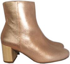 23d0534c217 Taryn Rose Women s Cassidy Powder Metallic Ankle Boots 6.5 Mid Heel Booties