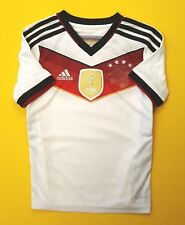 4.5/5 Germany kids jersey 2014 World cup shirt 7-8 years M35023 soccer Adidas