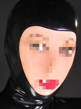 185 Latex Rubber Gummi open face Mask Hood customized catsuit costume 0.4mm cool