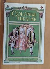 1924 Colonial Theater Company of Boston Pamphlet 24 Pages of Advertisements