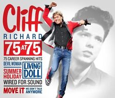 Cliff Richard - 75 at 75 (Greatest Hits/Best Of)  (NEW 3 x CD)