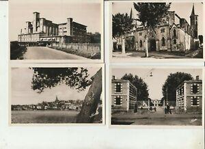 AUDE / lot de 4 cartes postale ancienne de Castelnaudary