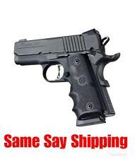 HOGUE Pistol Grip COLT 1911 Officers Model Rubber grip w/ Finger Grooves  43000