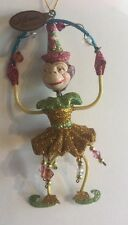 Katherine's Collection Retired Circus Monkey Ornament Yellow Nos
