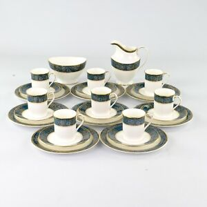 Royal Doulton Carlyle, Coffee Set, 8 X Trios + Milk And Sugar