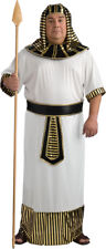 Pharaoh Egyptian Adult Men Costume Robe With Headpiece & Belt Fancy Dress Rubies
