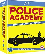 """POLICE ACADEMY THE COMPLETE  COLLECTION 1-7 BOX SET 7 DISCS BLU-RAY RB """"NEW"""""""