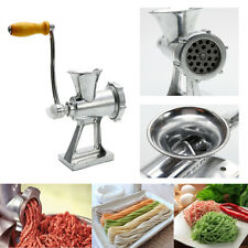 Table Hand Crank Manual Meat Grinder Mincer Stuffer Sausage Filler Maker New