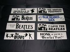 Collection of Vintage Beatles Bumper Stickers (8 different).