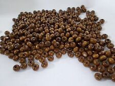 600pcs 6mm WOODEN Round Spacer Beads - BROWN