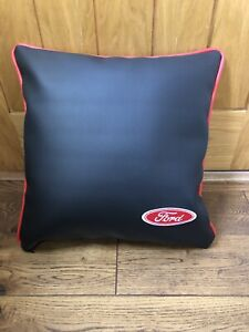 "Faux Leather Ford Style 17"" Cushion Cover With Fibre Filled Inner Brand New Red"