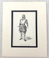 1889 Antico Stampa Dodicesimo Notte William Shakespear Carattere Il Mare Captain