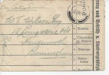 1917 WWI Cover German East Africa British Occupation FPO Handmade Envelope