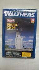 Walthers Cornerstone HO Prairie Co-Op Grain Elevator Kit #933-4047 New in Box