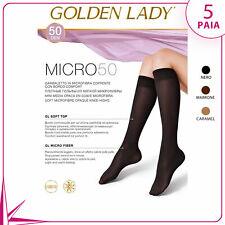 5 PAIA GOLDEN LADY GAMBALETTO DA DONNA MICROFIBRA 50 DENARI