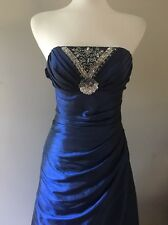 Girls/ Women's Blue Formal Wedding Gown Prom Cocktail Bridesmaid Dress. Sz 5/6