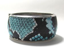 Chocolate brown blue fake snake skin lovely ladies  Bracelet