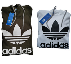 Adidas Originals Men Trefoil Big Logo Fleece Hoodie Hooded Sweatshirt SALE