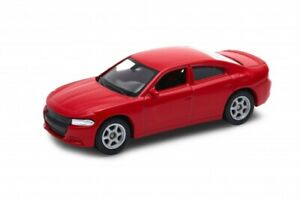 """2016 Dodge Charger R/T Red, Welly 1:60 1:64 No. 52364 3"""" inch Toy Car Model"""