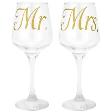 Mr and Mrs Glass Stickers for Wedding Glasses Gold Decal Bride Groom Gift