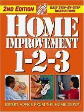 HOME IMPROVEMENT 1-2-3 Home Depot Repair/Remodel Book.  Free Shipping.