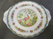 E4 ROYAL ALBERT Bone China Chelsea Bird Handled Cookie Plate