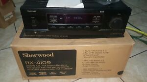 SHERWOOD RX-4109 2 CHANNEL 100 WATT AM/FM STEREO RECEIVER TESTED